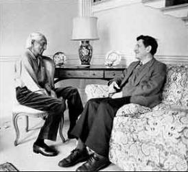 Jidav Krishnamurti y David Bohm. Imagen: http://www.pensamientoconsciente.com/?p=227